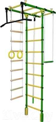 Детский спортивный комплекс Формула здоровья Атлант-1С Плюс (зеленый/желтый)