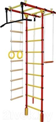 Детский спортивный комплекс Формула здоровья Атлант-1С Плюс (красный/желтый)