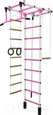 Детский спортивный комплекс Формула здоровья Атлант-1С Плюс (белый/розовый)