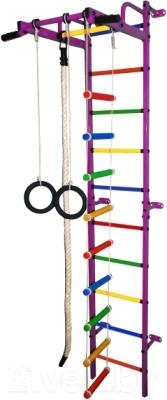 Детский спортивный комплекс Формула здоровья Карапуз-5А Плюс (фиолетовый/радуга)