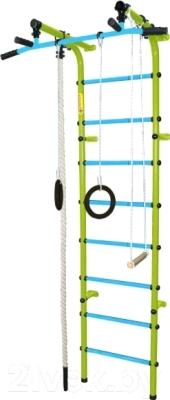 Детский спортивный комплекс Формула здоровья Непоседа-3В Плюс (салатовый/голубой)