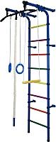 Детский спортивный комплекс Формула здоровья Непоседа-1В Плюс (синий/радуга) -