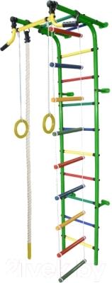 Детский спортивный комплекс Формула здоровья Забияка-2А Плюс (зеленый/радуга)