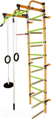 Детский спортивный комплекс Формула здоровья Лира-2К Плюс (оранжевый/салатовый)