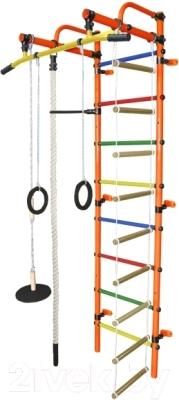 Детский спортивный комплекс Формула здоровья Лира-1К Плюс (оранжевый/радуга)