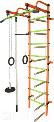 Детский спортивный комплекс Формула здоровья Лира-1К Плюс (оранжевый/салатовый)