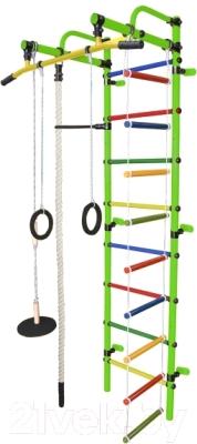 Детский спортивный комплекс Формула здоровья Лира-1К Плюс (салатовый/радуга)