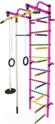 Детский спортивный комплекс Формула здоровья Лира-1К Плюс (розовый/радуга)