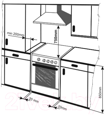 Кухонная плита Mora PS113MI