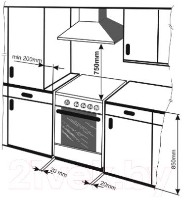 Кухонная плита Mora KS413MW