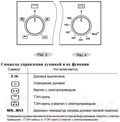 Газовый духовой шкаф Gefest ДГЭ 601-01 К