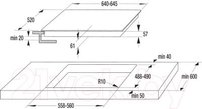 Индукционная варочная панель Gorenje GIS62XC