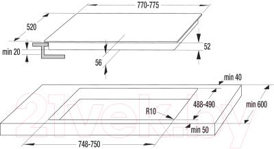 Электрическая варочная панель Gorenje GHT74XC