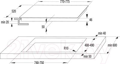 Индукционная варочная панель Gorenje GIS74XC