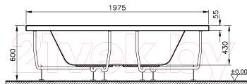 Ванна акриловая VitrA Neon 140x140 (52290001000)