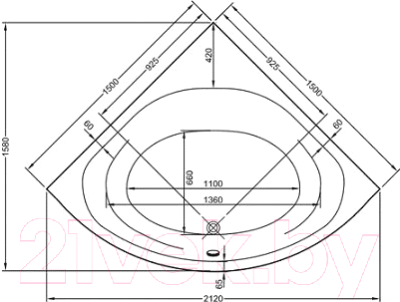 Ванна акриловая VitrA Neon 150x150 (53400001000)
