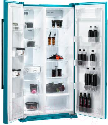Холодильник с морозильником Gorenje NRS85728BL