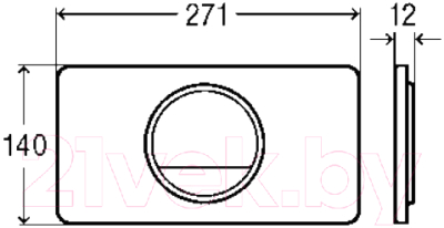 Кнопка для инсталляции Viega Visign for Style 13 654528