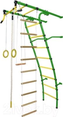 Детский спортивный комплекс Формула здоровья Стелла-2С Плюс (зеленый/желтый)