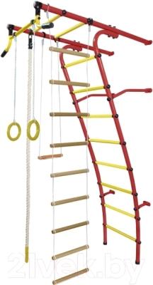 Детский спортивный комплекс Формула здоровья Стелла-2С Плюс (красный/желтый)