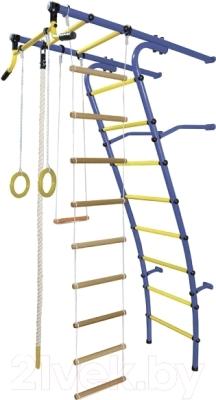 Детский спортивный комплекс Формула здоровья Стелла-2С Плюс (синий/желтый)