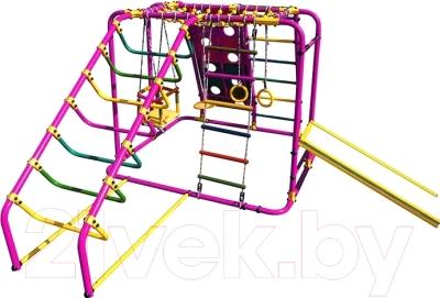 Детский спортивный комплекс Формула здоровья Артек-N Плюс (розовый/радуга)