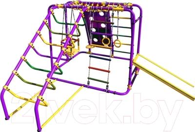 Детский спортивный комплекс Формула здоровья Артек-N Плюс (фиолетовый/радуга)