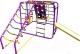 Детский спортивный комплекс Формула здоровья Артек-N Плюс (фиолетовый/радуга) -