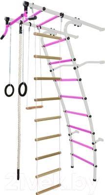 Детский спортивный комплекс Формула здоровья Стелла-2С Плюс (белый/розовый)