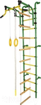 Детский спортивный комплекс Формула здоровья Аистенок-2А Плюс (зеленый/желтый)