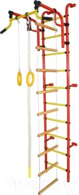 Детский спортивный комплекс Формула здоровья Аистенок-2А Плюс (красный/желтый)