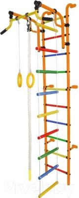 Детский спортивный комплекс Формула здоровья Аистенок-2А Плюс (оранжевый/радуга)