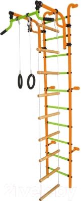 Детский спортивный комплекс Формула здоровья Аистенок-2А Плюс (оранжевый/салатовый)