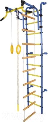 Детский спортивный комплекс Формула здоровья Аистенок-2А Плюс (синий/желтый)