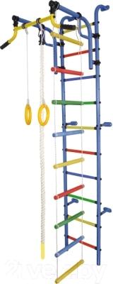 Детский спортивный комплекс Формула здоровья Аистенок-2А Плюс (синий/радуга)