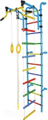 Детский спортивный комплекс Формула здоровья Аистенок-2А Плюс (голубой/радуга)