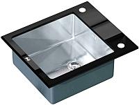 Мойка кухонная ZorG GL-6051 (черный) -