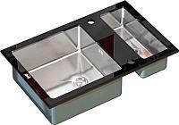Мойка кухонная ZorG GL-8051-2 (черный) -