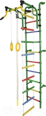 Детский спортивный комплекс Формула здоровья Аистенок-2А Плюс (зеленый/радуга)