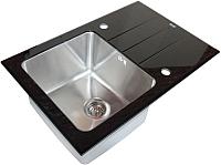 Мойка кухонная ZorG GL-5077 (черный) -