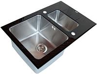 Мойка кухонная ZorG GL-5078-2 (черный) -