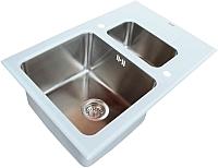 Мойка кухонная ZorG GL-5078-2 (белый) -