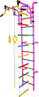 Детский спортивный комплекс Формула здоровья Аистенок-2А Плюс (розовый/радуга)