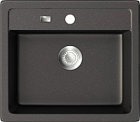 Мойка кухонная ZorG GZR-5750 Galla (черный металлик) -
