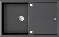 Мойка кухонная ZorG GZR-7850 Exoro (черный металлик) -