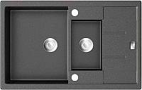 Мойка кухонная ZorG GZR-78-2-50 Amelia (черный металлик) -