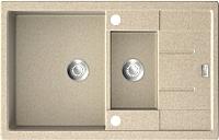 Мойка кухонная ZorG GZR-78-2-50 Amelia (песочный) -