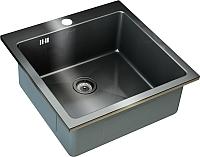 Мойка кухонная ZorG SZR-51  (графит) -