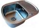 Мойка кухонная ZorG SZR-630-490 (графит) -