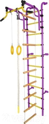 Детский спортивный комплекс Формула здоровья Аистенок-2А Плюс (фиолетовый/желтый)